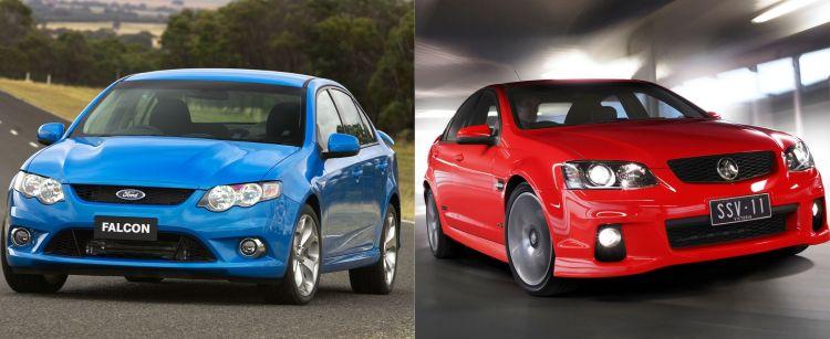 Ford vs Holden blue red
