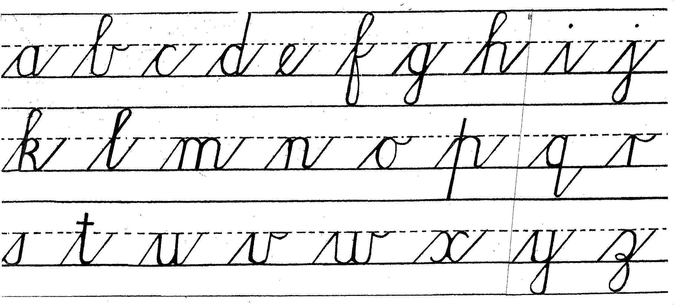 Handwriting Cursive Lower