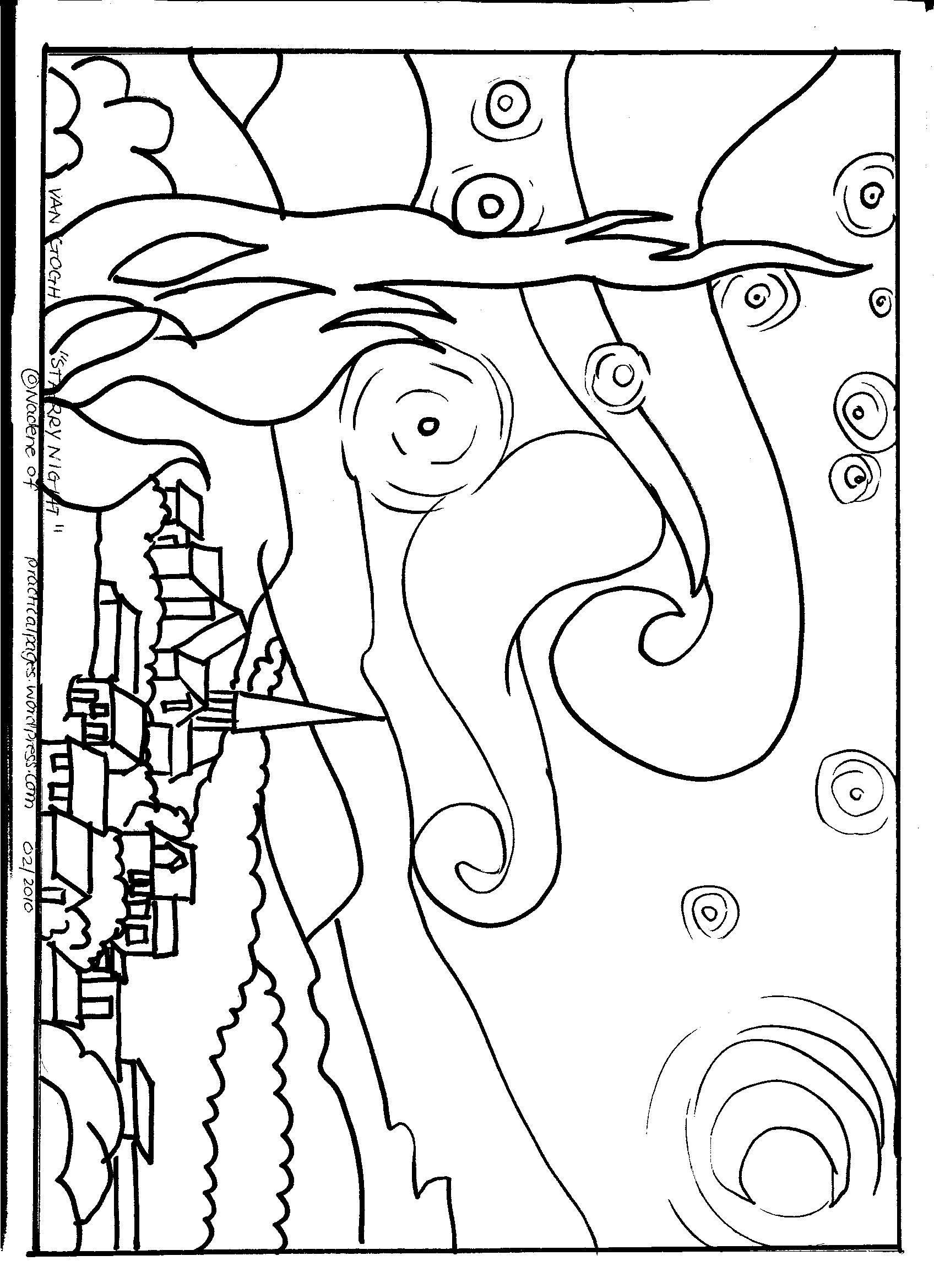 Tracing Outlines Of Famous Art Works