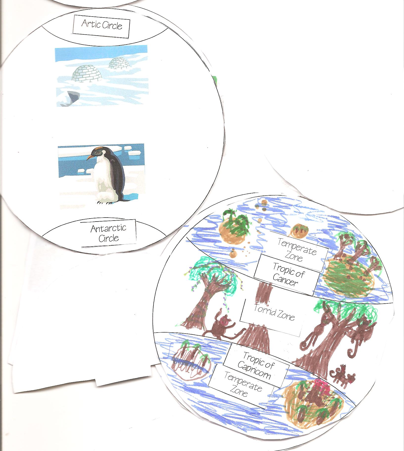 Geography Learn About Hemispheres Minibook