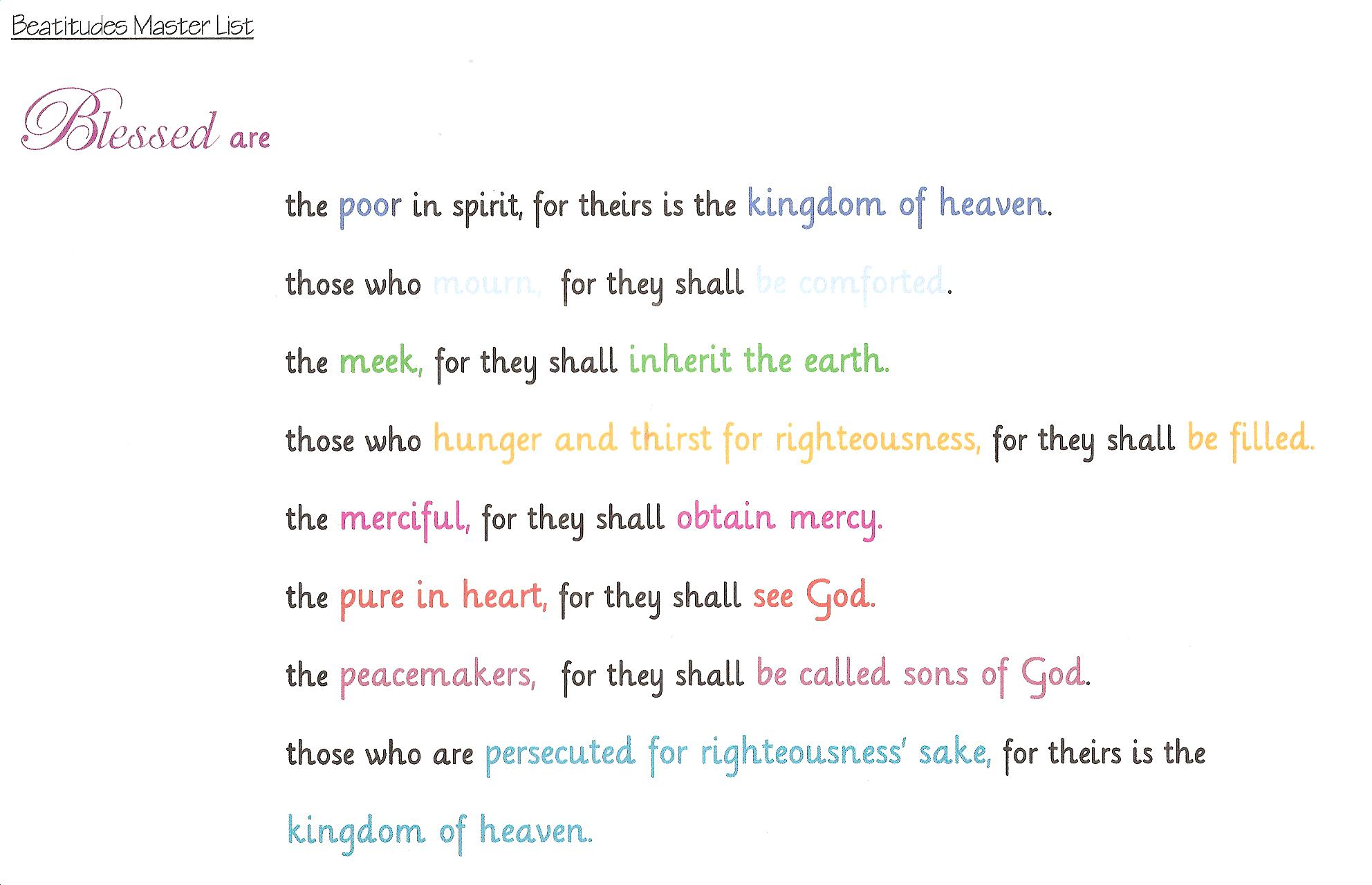 Beatitudes Explained For Kids