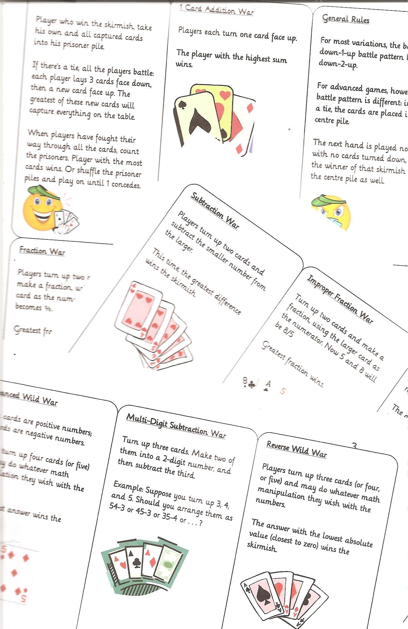 Maths Games With A Pack Of Cards