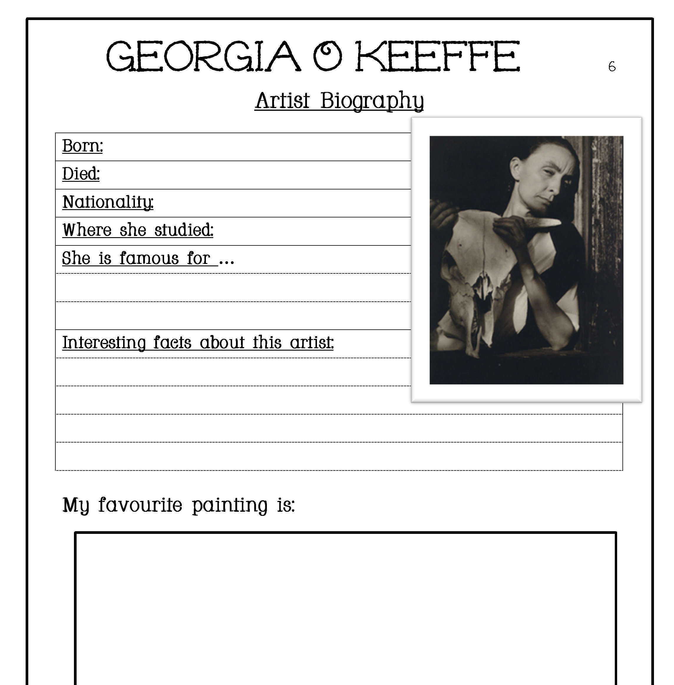 Georgia Worksheets For Kids