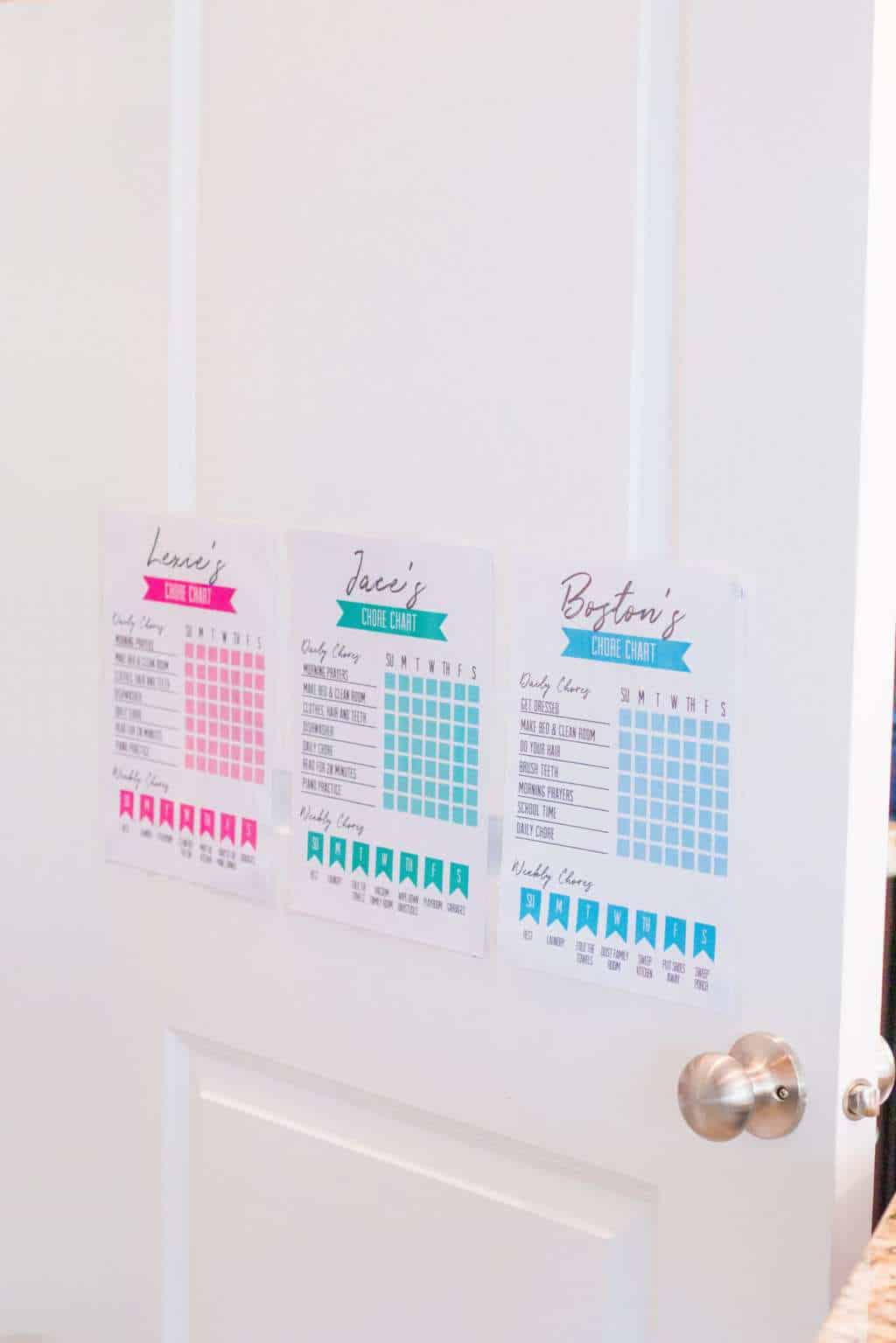 Free Printable Chore Charts - Practical Perfection