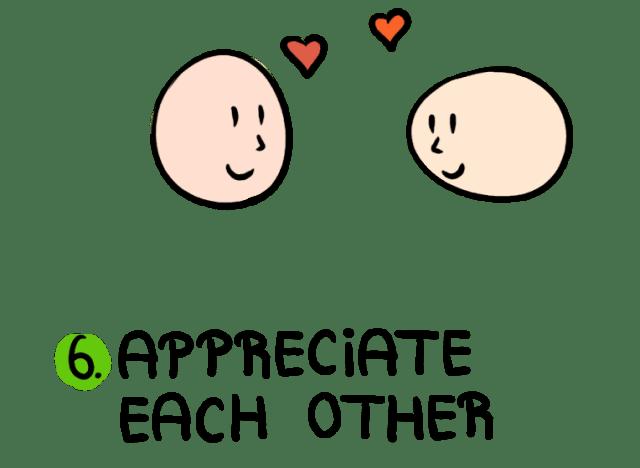 एक दूसरे की सराहना करते हैं