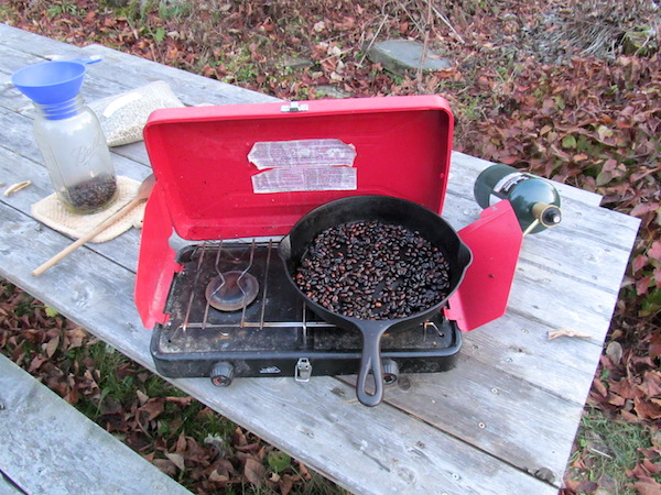 Outdoor Coffee Roasting Setup