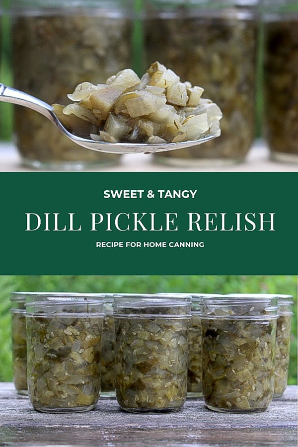 Dill Pickle Relish Recipe for Canning ~ This pickle relish recipe has just enough sweet to balance the tangy vinegar and pickling salt, for a delicious, well rounded topping. Perfect as a hot dog topping or in all your summer recipes. Canning instructions provided, but you can also make it as a refrigerator relish pickling recipe. #relish #relishrecipe #dillpickle #canning #foodpreservation #preservingfood #homestead #selfreliant #selfsufficiency #homesteading
