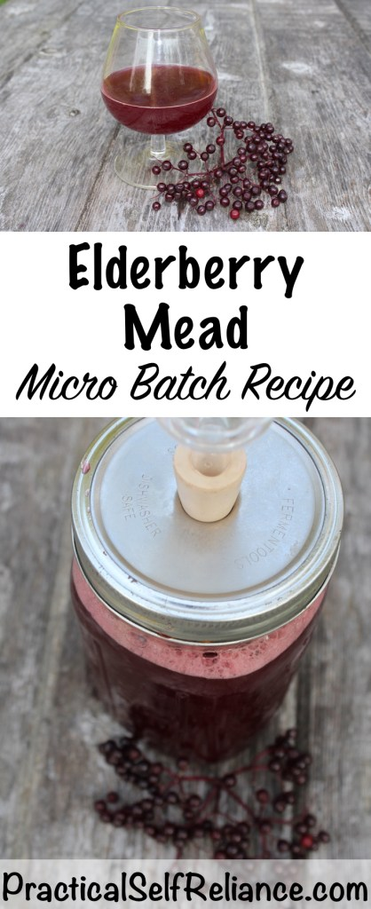 Small Batch Elderberry Mead #elderberry #elderberryrecipes #mead #meadrecipe #homebrew #honeywine #fermentation #fermenteddrinks