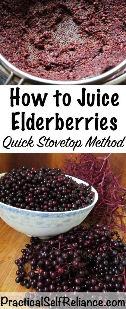 How to Juice Elderberries
