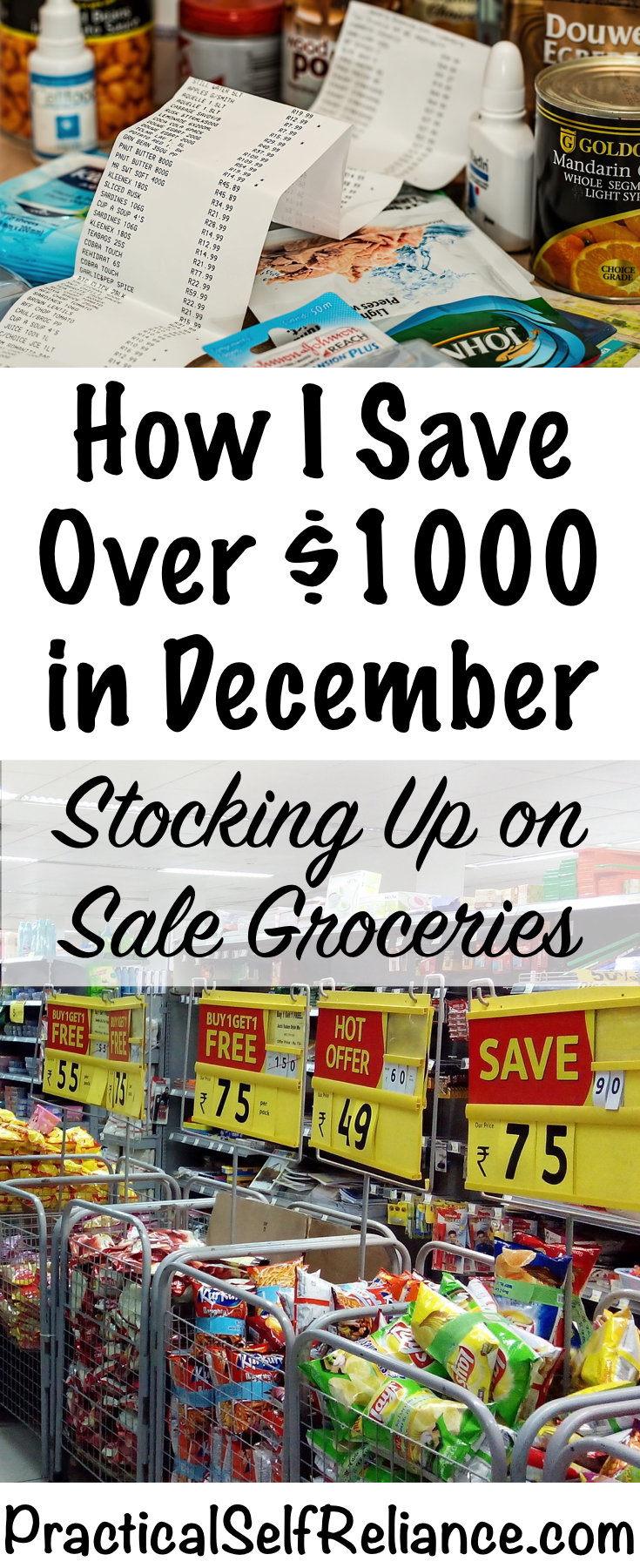 How I Save Over $100 in December by Stocking Up on Sale Groceries #groceryshopping #groceryshoppingtips #frugalliving #savemoney #savemoneyongroceries