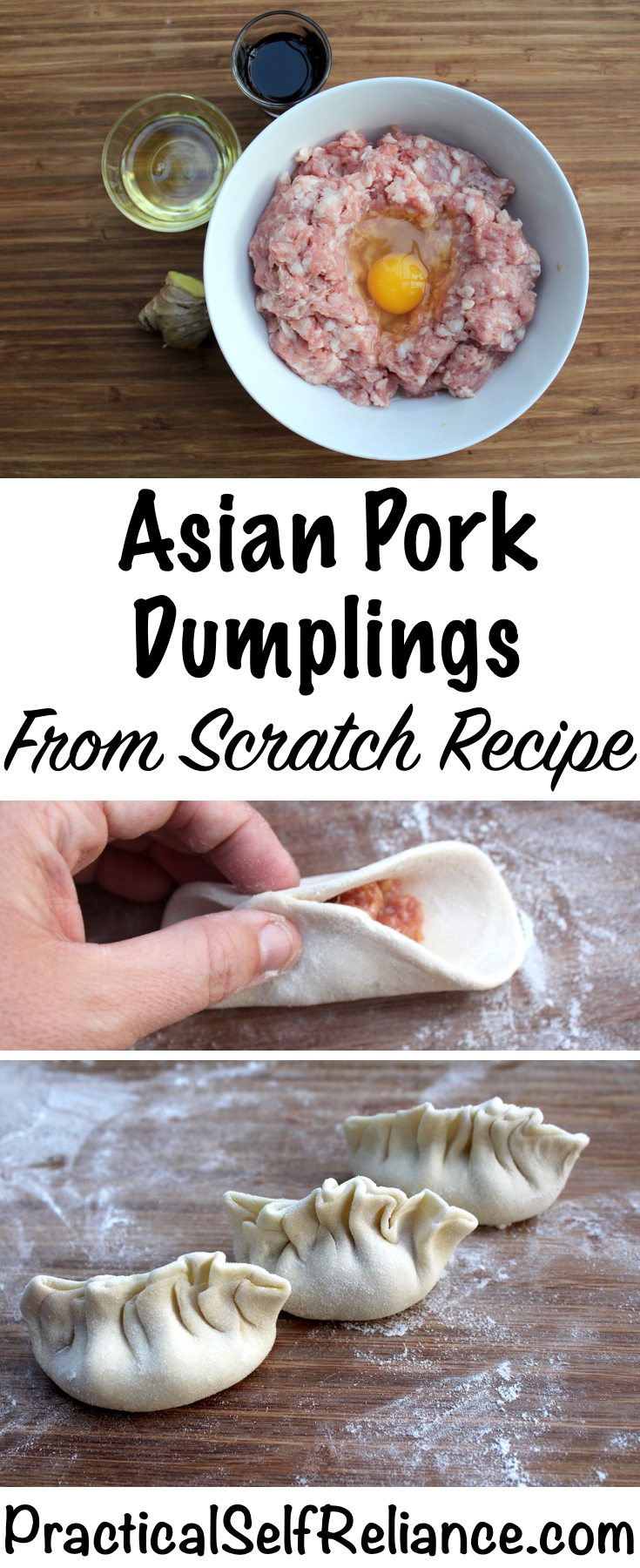 Asian Pork Dumplings - From Scratch Recipe with Homemade Dumpling Wrappers #dumplings #asianrecipes #chinesefood #pork