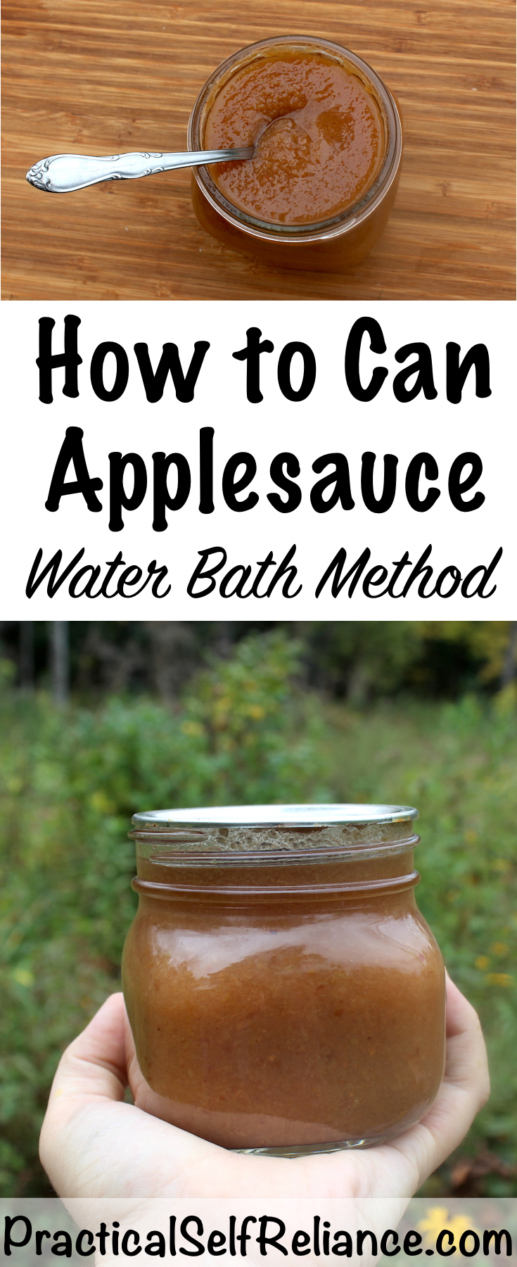 How to Can Applesauce - Water Bath Method