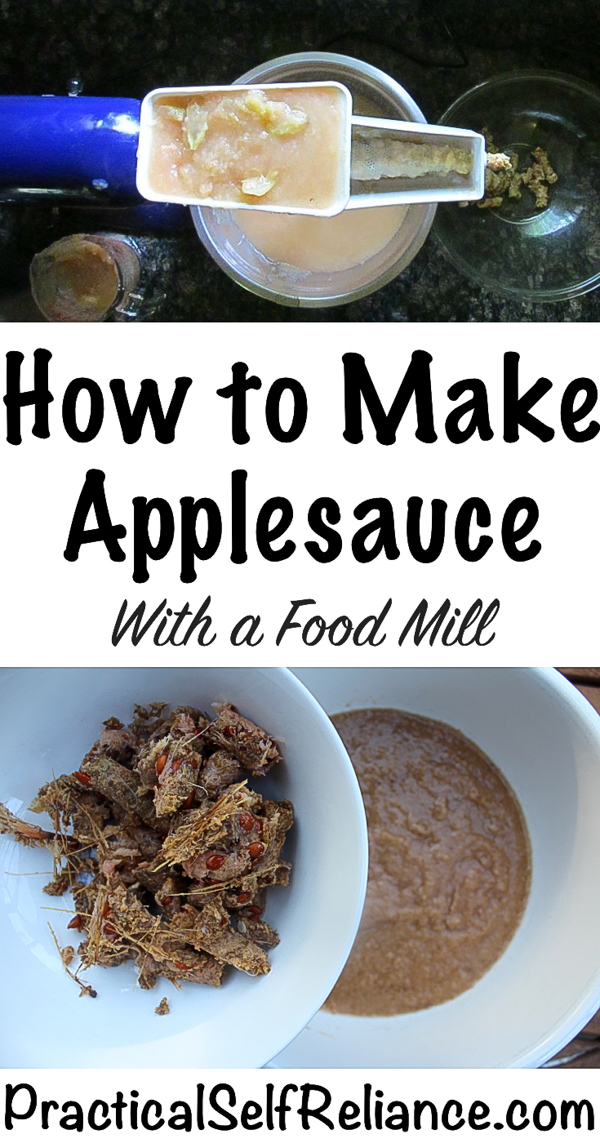 How to Make Applesauce With a Food Mill #applerecipes #applesauce #homemadeapplesauce #canning #foodpreservation #preservingfood #homestead #selfreliant #selfsufficiency #homesteading