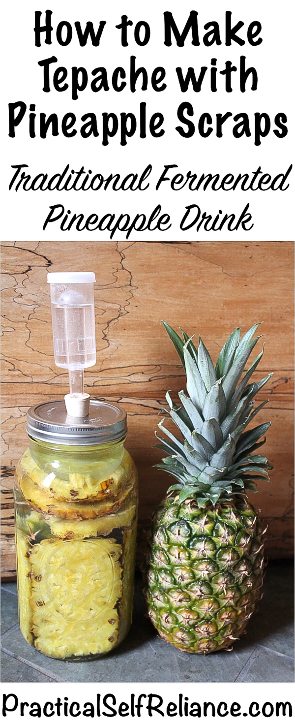 How to Make Tepache with Pineapple Scraps