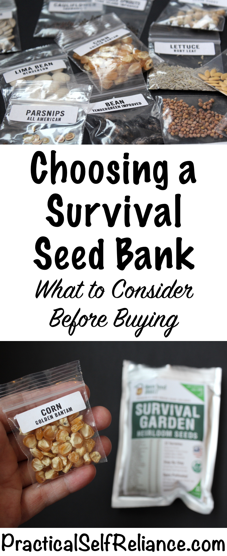 Choosing a Survival Seed Bank #seeds #vegetableseeds #seedbank #preparedness #survival #shtf #homesteading #prepper #selfsufficiency #selfreliant