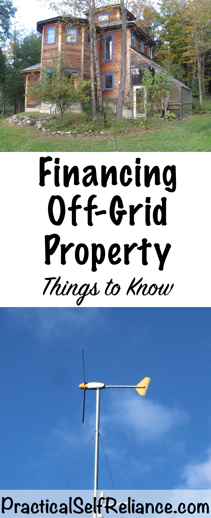 Financing Off Grid Property