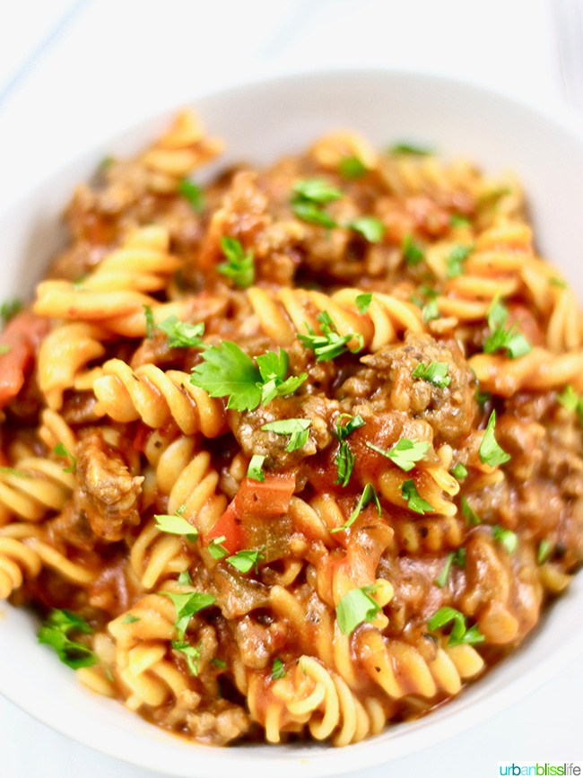 Instant Pot Sausage and Peppers Pasta from Urban Bliss Life