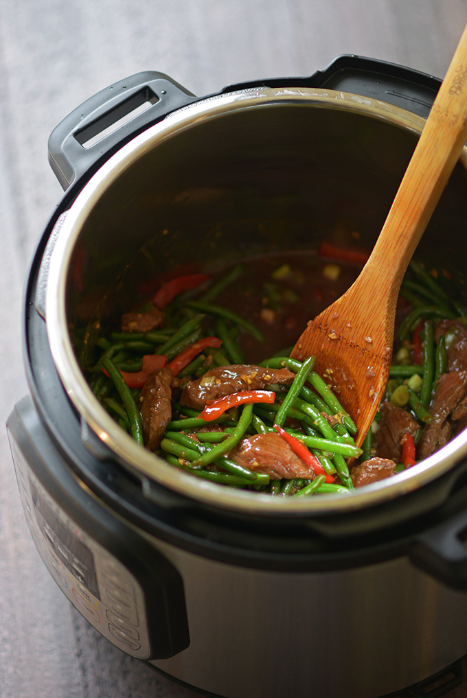 Instant Pot Mongolian Beef and Green Beans from Simple Seasonal