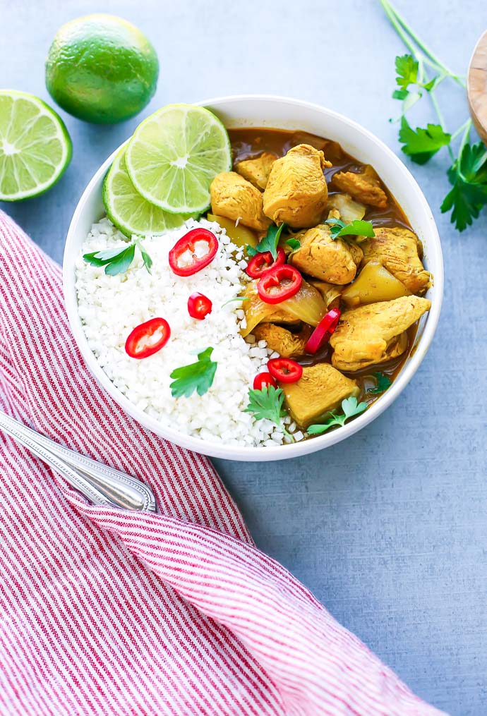 Instant Pot Chicken Curry from Seasonal Cravings