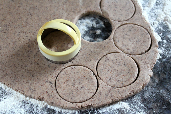 Birch bark shortbread cookie dough