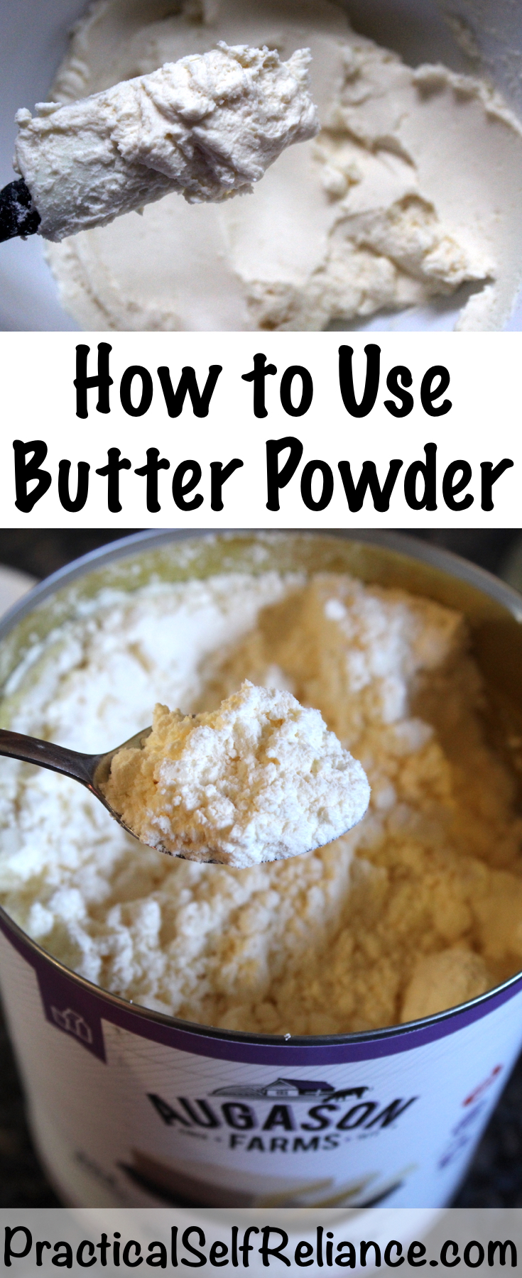 How to Use Butter Powder ~ Cooking from a Prepared Pantry