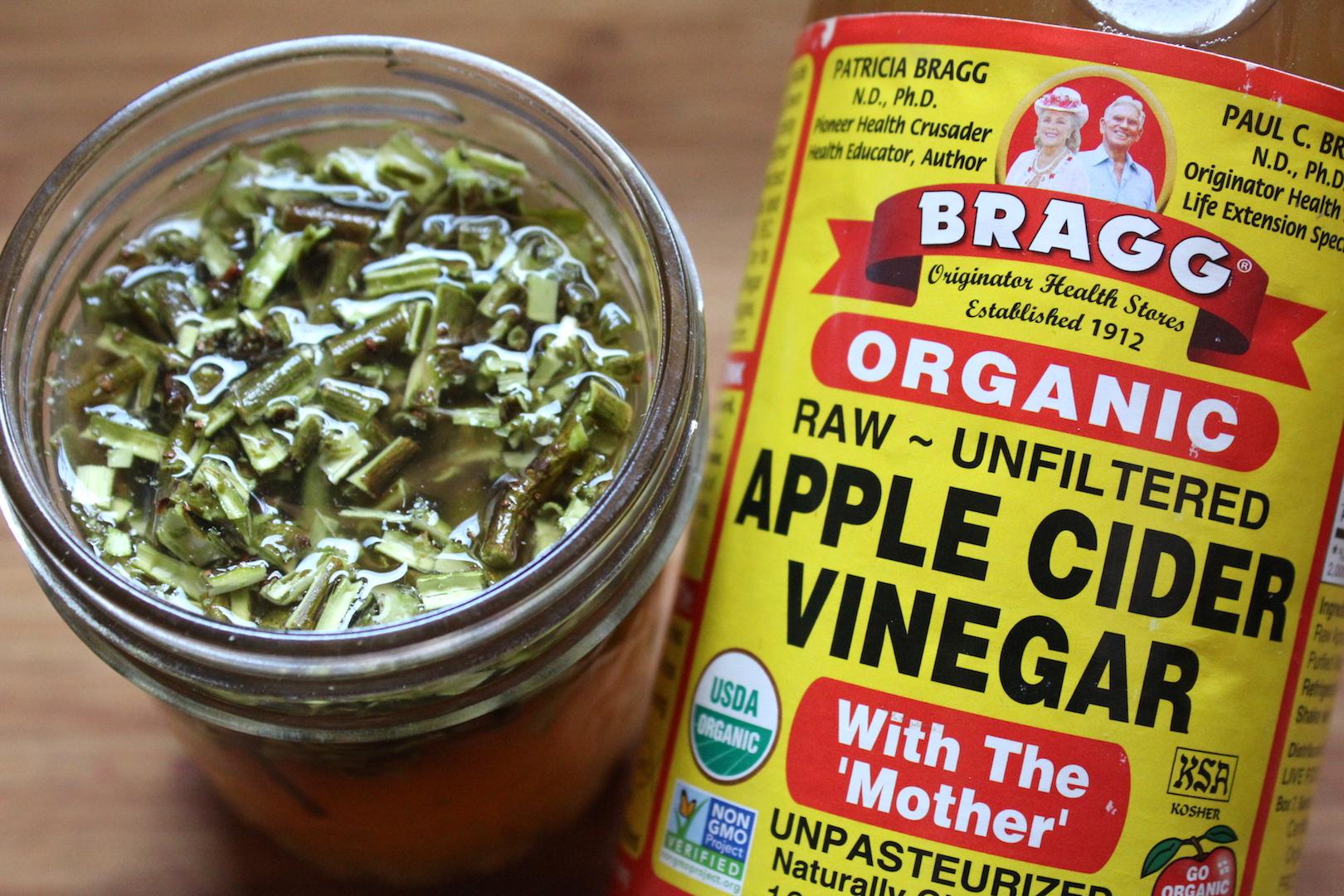 Willow bark extract in vinegar