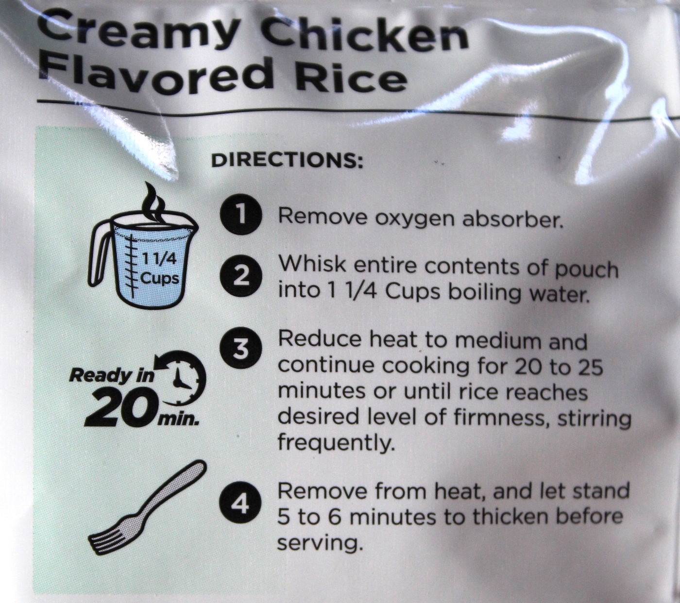 Instructions on Chicken Flavored Rice