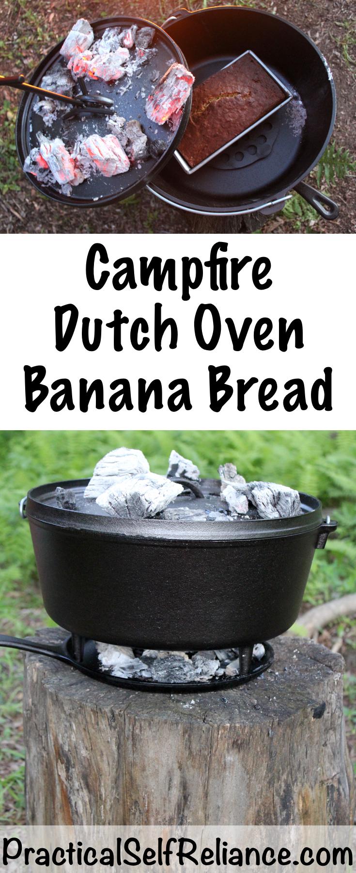 Campfire Dutch Oven Banana Bread