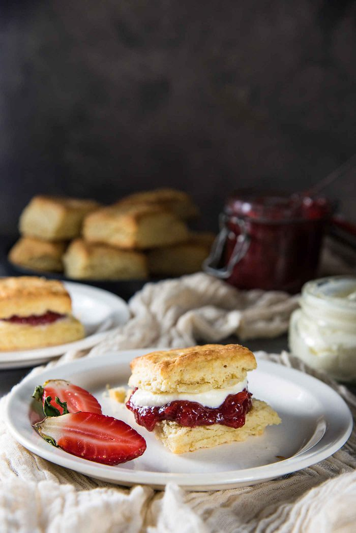 Classic Cream Scones with Jam from The Flavor Bender