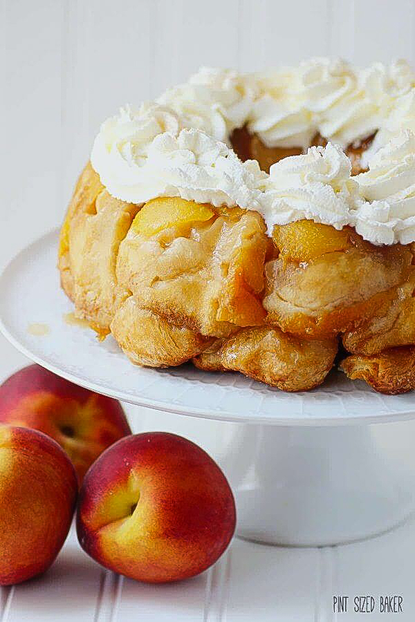 Peaches and Cream Monkey Bread from Pint Sized Baker