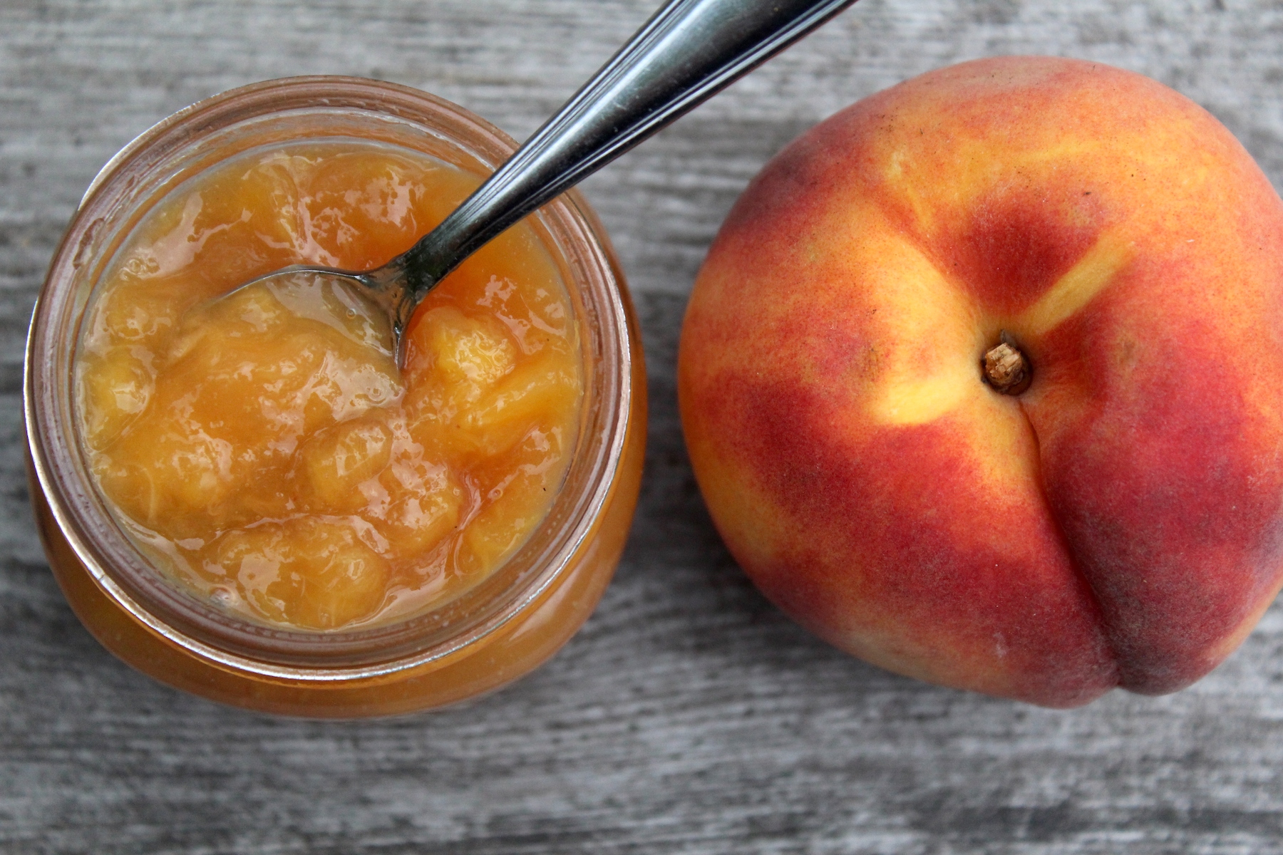 Homemade peach jam
