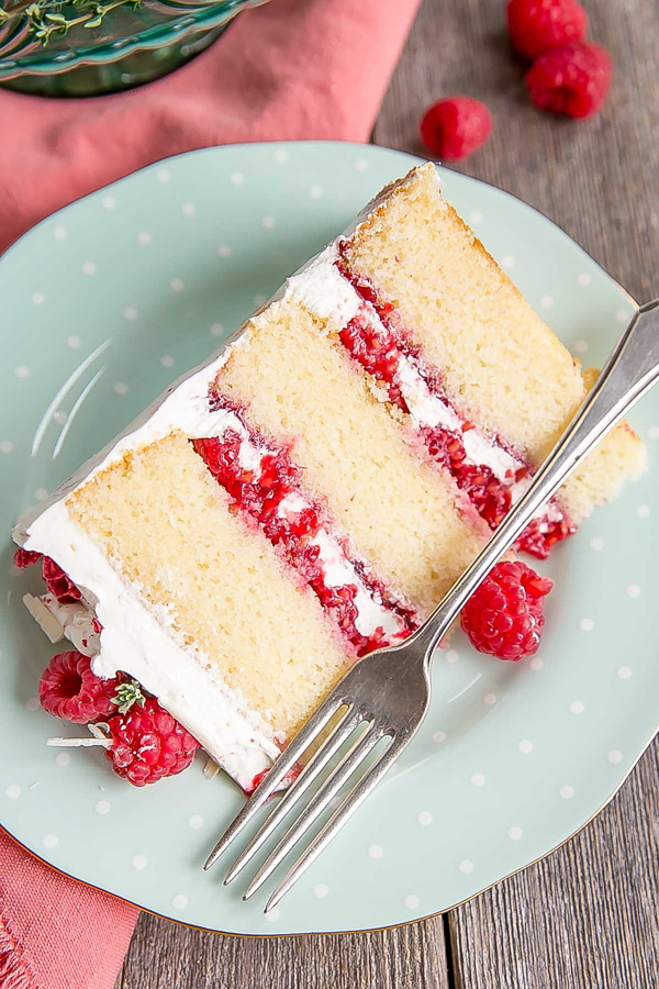 White Chocolate Raspberry Cake from Liv For Cake