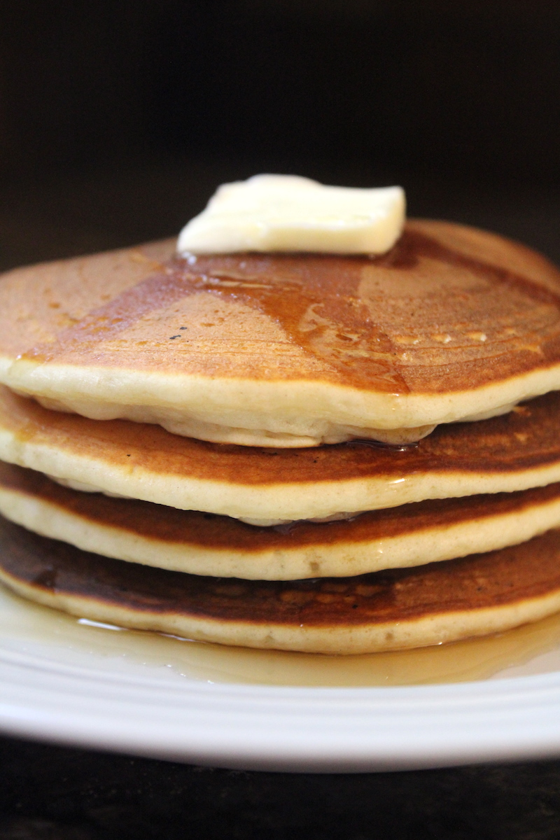 Pancakes from Just add Water mix