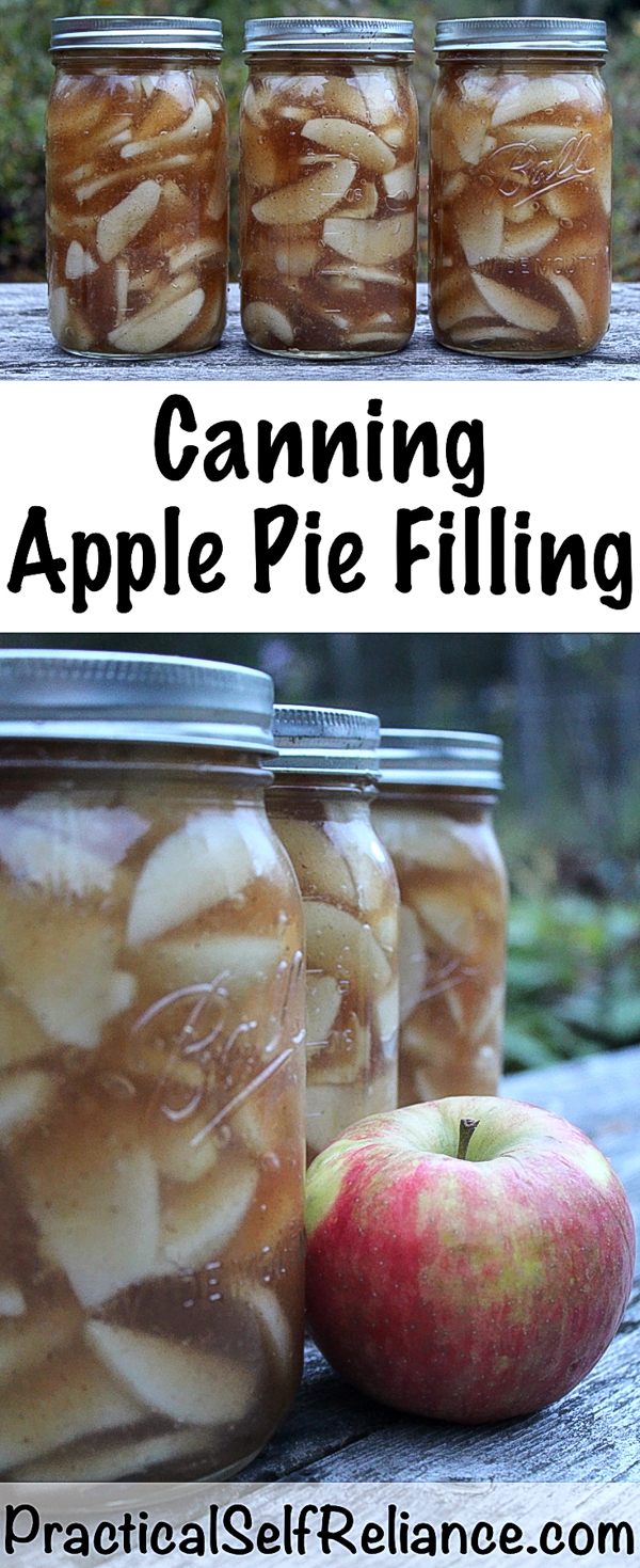 Canning Apple Pie Filling ~ Apple Pie Filling Recipe for Canning #apple #recipes #applepie #canning #foodpreservation #homesteading #selfsufficiency #preparedness