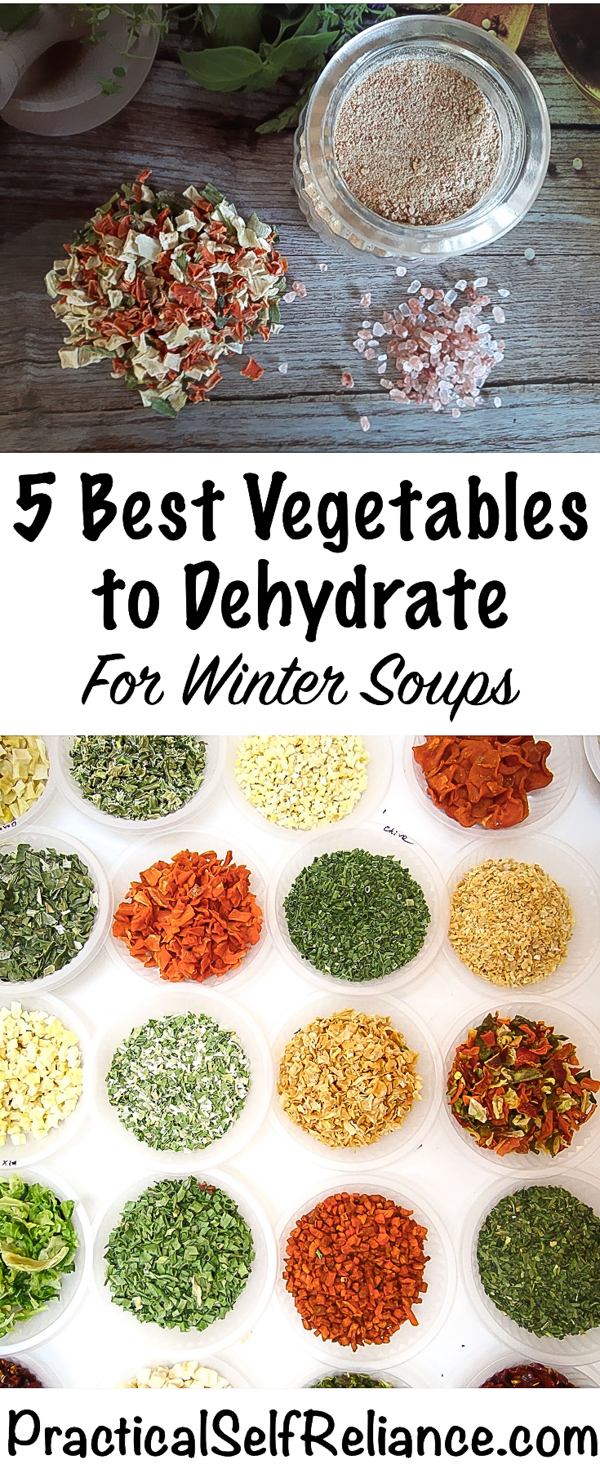 Best Vegetables to dehydrate for Soup #soup #recipes #winterrecipes #dehydrating #foodpreservation #homesteading #selfsufficiency #preparedness