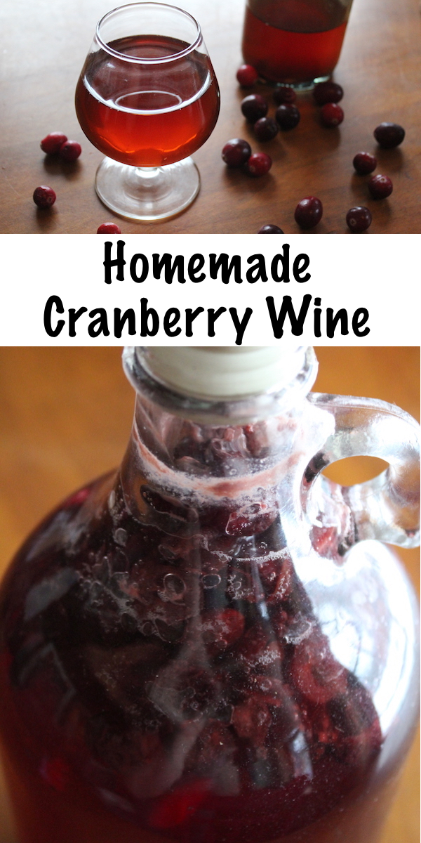 Homemade cranberry wine is easy to make with fresh fruit or cranberry juice.  Just a few ingredients and you're well on your way to a simple, homemade country wine that's perfect for sipping all winter long (especially around the holidays).  #fermenting #winemaking #wine #brewing #homebrew #cranberry #christmas #holidays #drinks #beverage#cranberry #recipes #homemade #wine