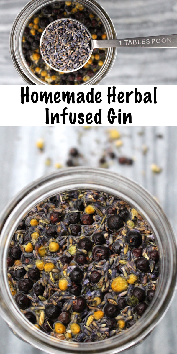 Homemade Herbal Infused Gin
