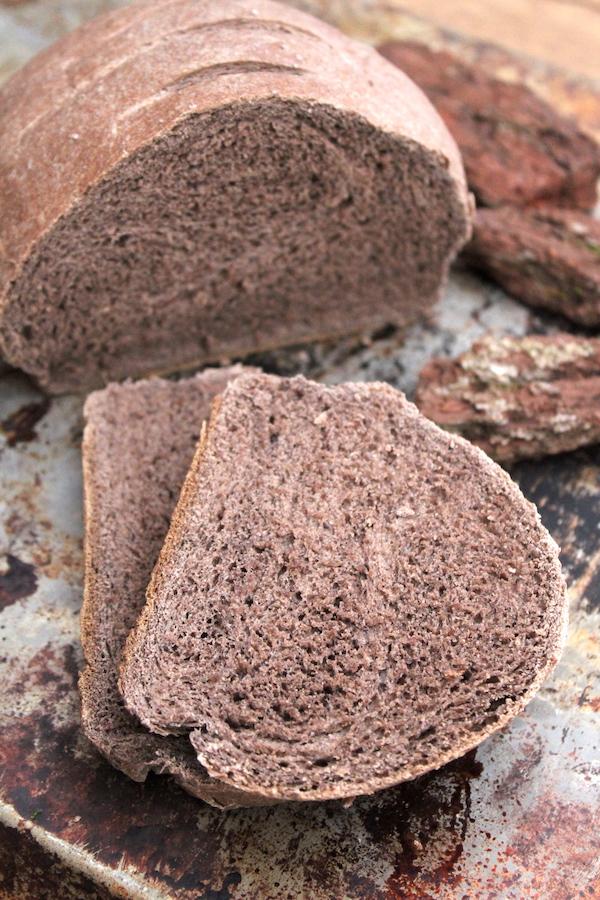 Wild Foraged Pine Bark Bread made with Pine Bark Flour
