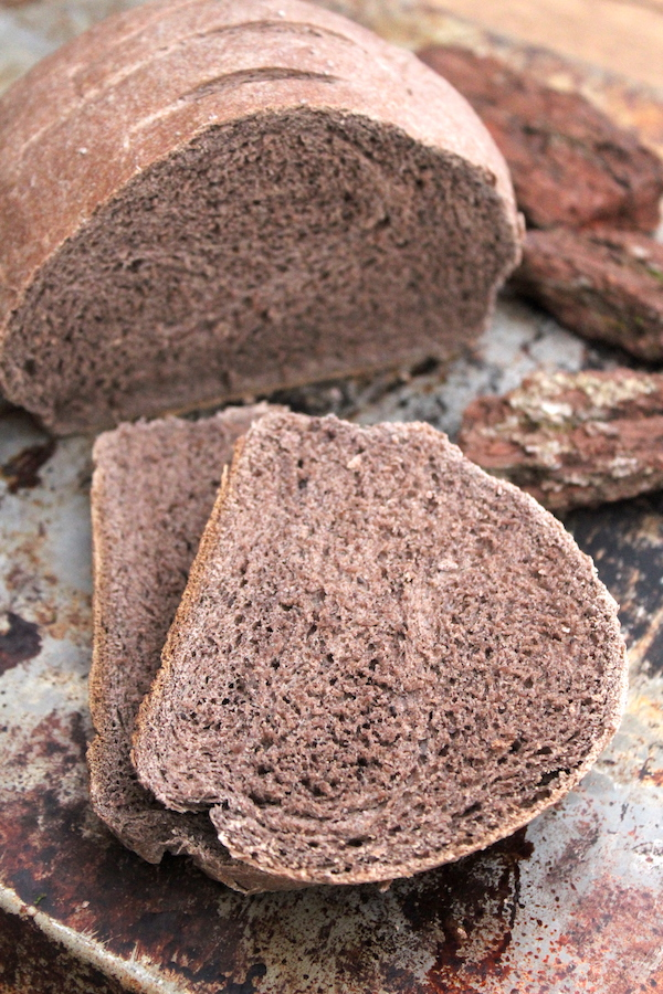 Wild Foraged Pine Bark Bread made with Pine Bark Flour