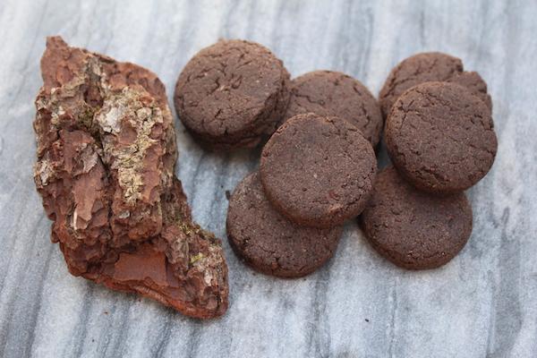 Wild Foraged Pine Bark Cookies