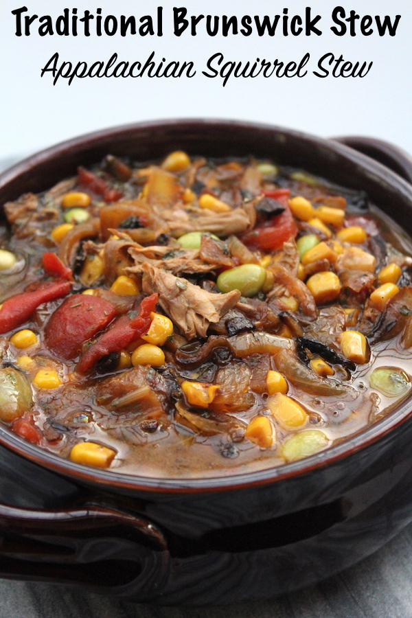 Traditional Brunswick Stew Recipe ~ Appalachian Squirrel Stew #squirrel #recipe #howtocook #wildgame #hunting #survivalist #prepper #homesteading #stew #comfortfood