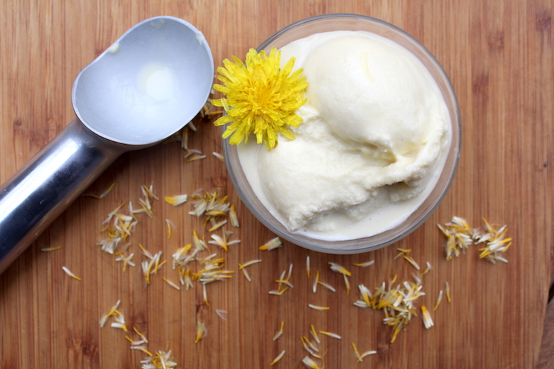 Dandelion Ice Cream