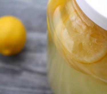 Homemade Lemon Wine