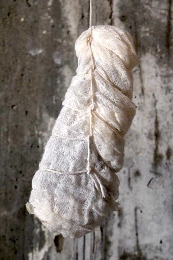 Duck Prosciutto Hanging to Cure