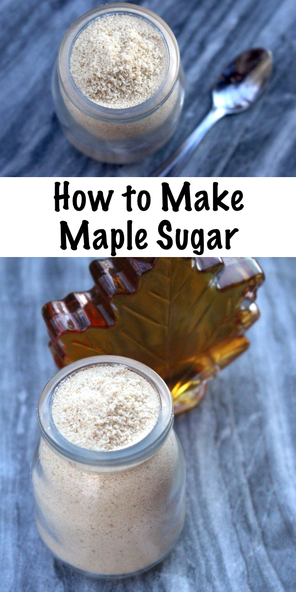 How to Make Maple Sugar ~ Homemade maple sugar is easy to make at home from maple syrup. You can save a lot of money making your own maple sugar rather than buying it from the store, and it substitutes 1:1 with brown sugar in recipes.
