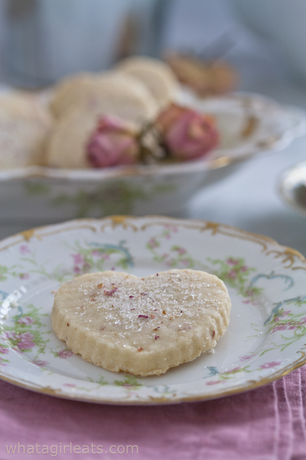 Rose shortbread from what a girl eats
