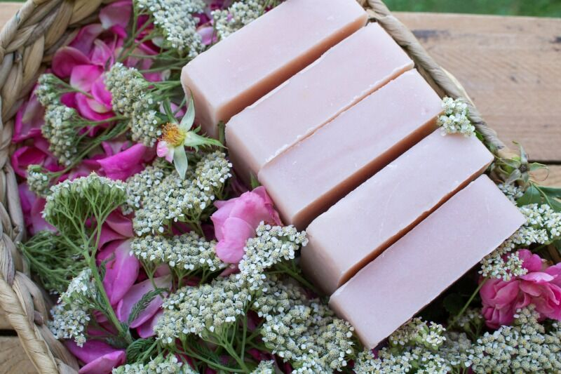 Wild Rose and Yarrow Soap from Grow Forage Cook Ferment