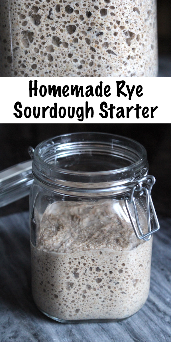 Homemade Rye Sourdough Starter ~ If you want to make 100% rye sourdough, you'll need a rye sourdough starter. Rye breads taste better with the long slow leavening that a sourdough culture provides, and a homemade rye sourdough culture can be made at home with just a few ingredients.