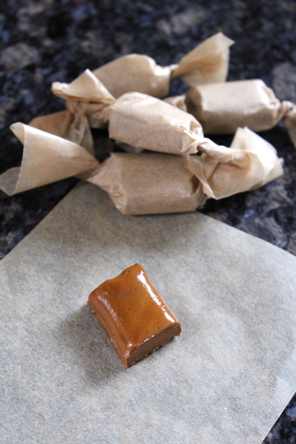 Hard candy made from boiled cider (apple cider hard candies)