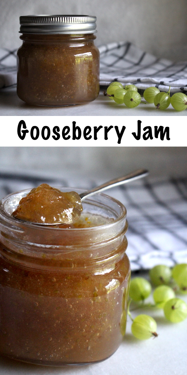 Homemade Gooseberry Jam Recipe ~ Gooseberries are an old fashioned fruit making a modern comeback at farmers market booths. For a unique flavor on your morning toast, try making your own gooseberry jam, just like grandma used to make. #gooseberry #jam #canning #jelly #traditionalskills #homesteading #canningseason